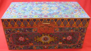 Large Ch ' Ing Dynasty Cloisonne Enamel Box photo