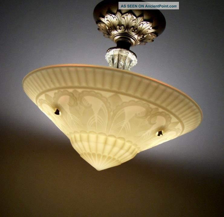 Antique Art Deco Ceiling Light Fixture | Car Interior Design