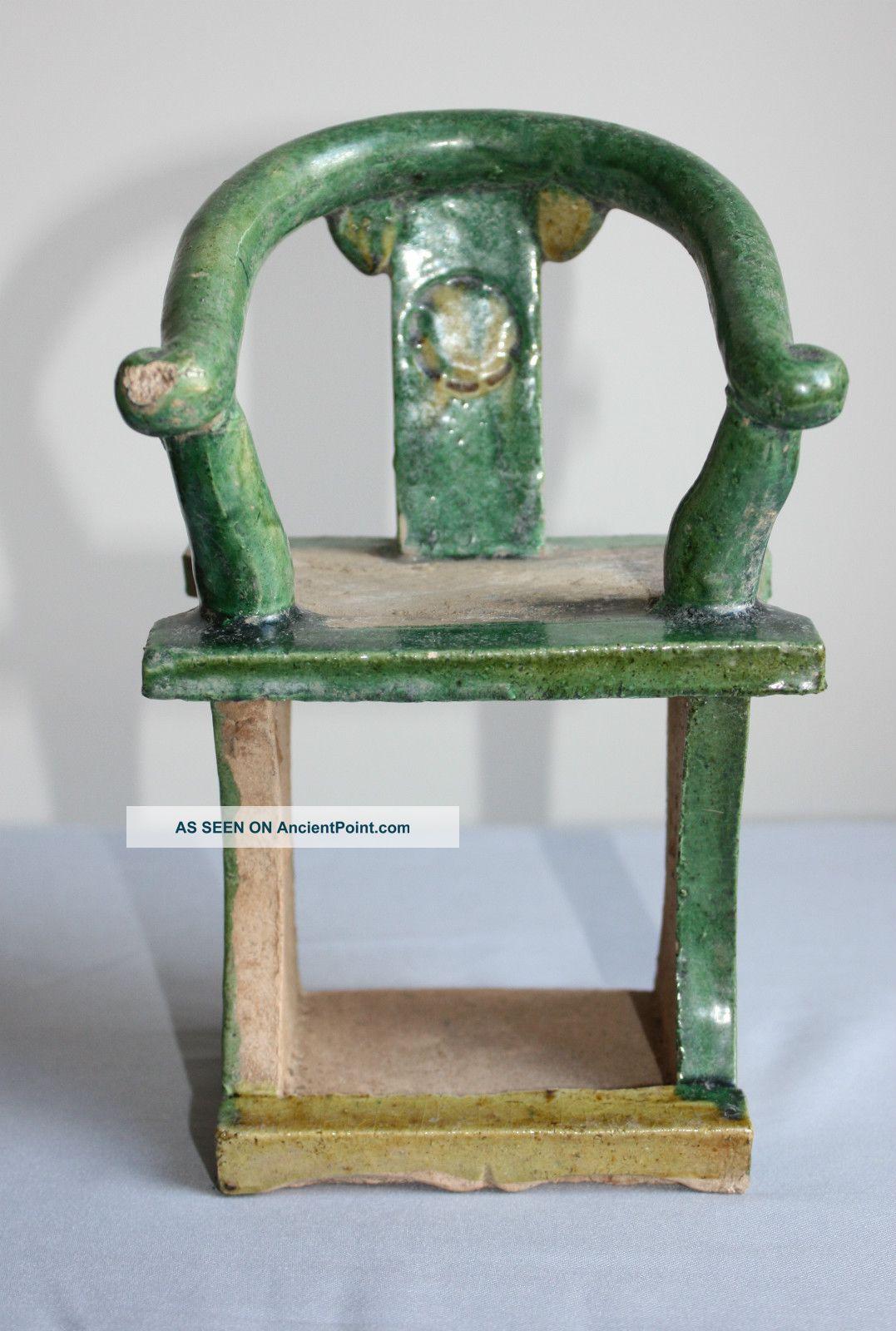 Ming Dynasty Glazed Votive Chair Chinese photo