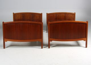 Pair Of Amazing Borge Mogensen Cuban Mahogany Beds Danish Midcentury Modern photo