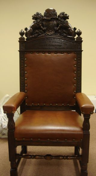 Historic German Chair To Honor Chairman Of Ww1 Vets Organization Of Munich photo