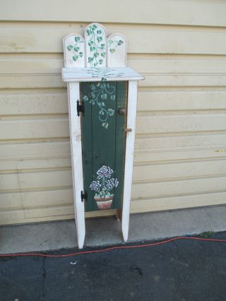 51820 Pine Paint Decorated Cabinet Cupboard photo