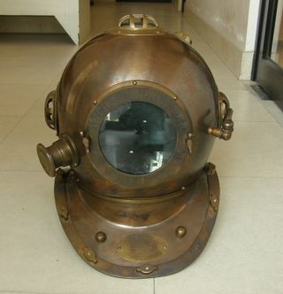 Anchor Engineering Diving Helmet Antique Finish Diver ' S Helmet Collectible Decor photo