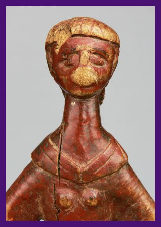Sculptural And Styllized Altar Figure From Burkina Faso photo