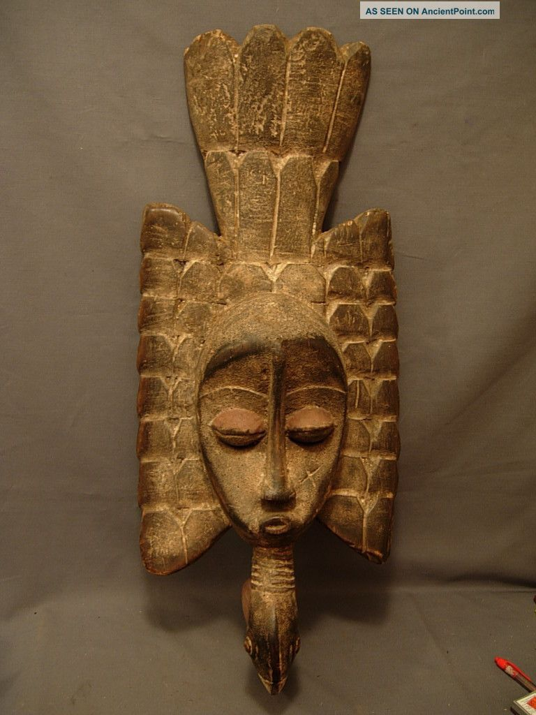 Large Senufo Harvest Bird Mask,  Drc Sculptures & Statues photo