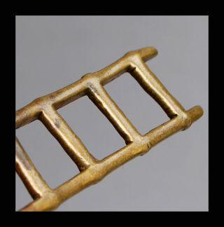 A Fine Ladder 18 - 19thc Akan Gold Weight Ex European Collectn photo