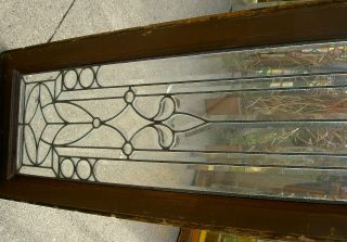 Exquisite Antique Bevelved Side Lite Window With 3 Jewels And 8 Bull Eyes 85 photo