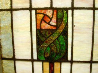 Monumental Rare Victorian Glasgow Rose Design Stained Glass Window Estate 159 photo