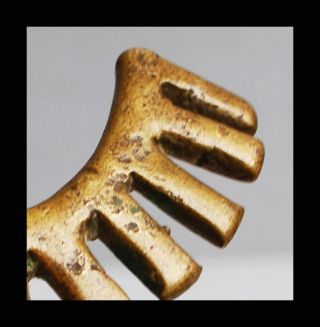 An 18thc Akan Gold Weight Interesting Form Ex European Collectn photo