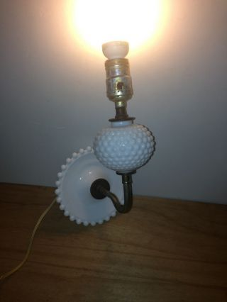 Vintage White Hobnail Wall Sconce Light Lamp photo