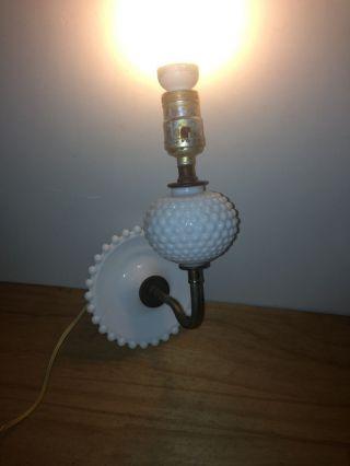 Vintage White Hobnail Wall Sconce Light Lamp photo