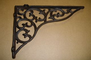 16 - Rustic Brown Scroll Design 11 X 7 1/2 X 1 1/2 Shelf Bracket photo