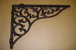 16 - Rustic Brown Scroll Design 11 X 7 1/2 X 1 1/2 Shelf Bracket photo