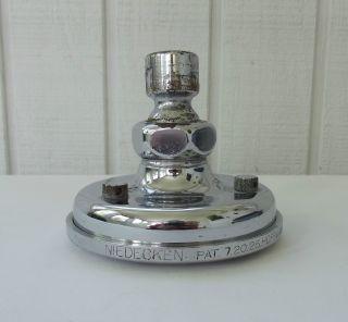 Antique C.  1926 Vintage Niedecken Solid Brass Nickel Shower Head Hoffman Billings photo