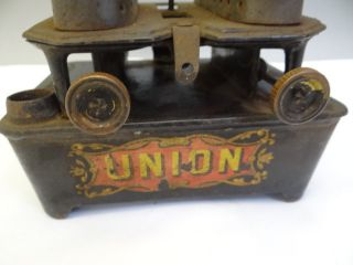 Antique Mica Window Co & Gs Union Brand Kerosene Sad Flat Cast Iron Heater Parts photo