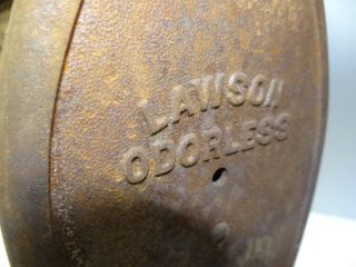 Antique Old Metal 1901 Lawson 10 Odorless Gas Space Heater Unit Parts Nr photo