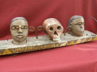 Antique Tribal Art Headdress Abiriba War Dance Head Hunters Oyaya C1890 - 1900 photo