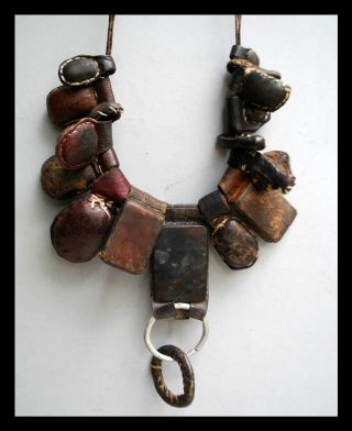 A Leather Amulet Necklace From The Tuareg Nomads Of The Sahara In Niger photo