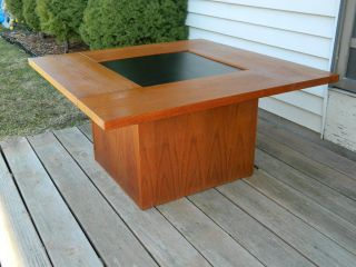 Mid Century Modern Kai Kristiansen 1960 ' S Danish Hydraulic Coffee Bar Table Teak photo