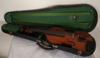 Antique French Violin Antonio Martello Beare & Son London 4/4 Full Size Signed photo