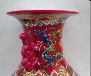 Ancient Chinese Ceramics And Colorful Porcelain Vase photo