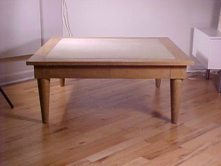 James Mont Style Coffee Table Dunbar Eames Leather Wrapped photo