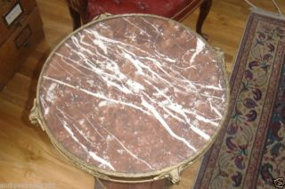 19th Century French Dore Bronze Center Table Marble photo
