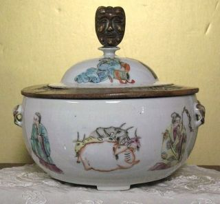 Qing Dynasty Family Rose Porcelain (persons) Big Jar photo