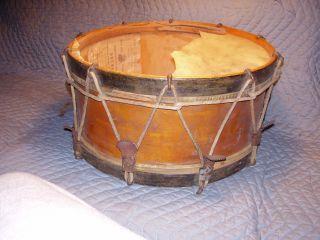 Antique Wood Wooden John C.  Haynes & Co.  Boston Ma Drum Fantastic Label photo