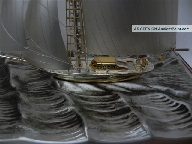 Finest Large Signed Japanese Sterling Silver 985 Model Ship By Takehiko Japan Other photo
