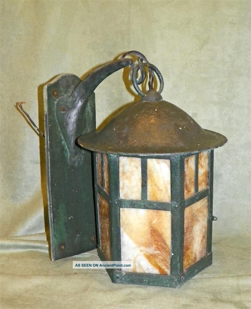 Antique arts and crafts sconces
