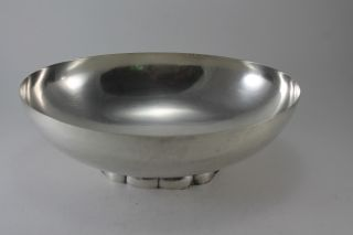 Vintage Silver Plate Footed Oval Bowl Poole Silver Co 811 photo