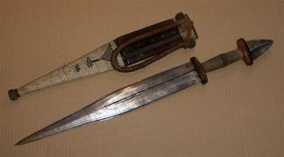 Sudan Old African Knife Ancien Couteau D ' Afrique Tebu Afrika Africa Soudan Dolk photo