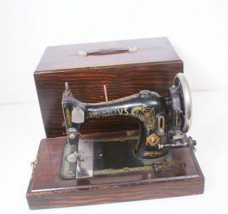 Antique Bradbury Family V.  S.  British Sewing Machine 4 Repair/parts Hand Crank photo