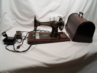 Antique Singer Manufacturing Co Hand Crank Sewing Machine Working Condition photo