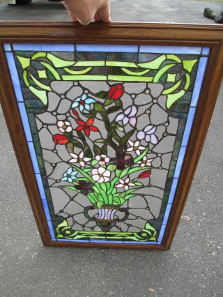 51371 Stain Glass Window In Fancy Picture Frame photo