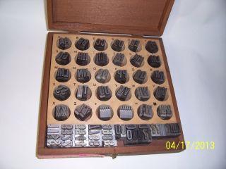 Kingsley Hotstamp Types,  48 - Pt Barnhart Modren Bold,  Usa Made. photo