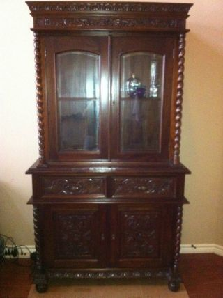 Barley Twist Mahogany Cabinet New Free Fast photo