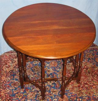 Antique Kittinger Walnut Childs/youth Gateleg Table photo