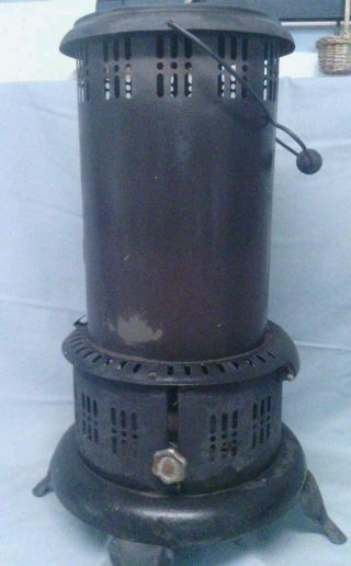 Antique Gas Kerosene Cast Iron Floor Stove Perfections Ind.  Cleveland,  Ohio photo