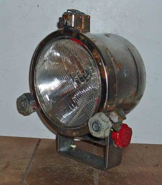 Nautical C1960 German Fishing Trawler Spot Light Electric Safety Glass Front photo