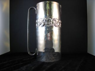 Brandimarte Hand Hammered Silver Pitcher Grapes Fruit photo