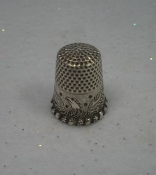 Antique Ketcham & Mcdougall Sterling Silver Spread Eagle Thimble Circa 1890 Vgc photo