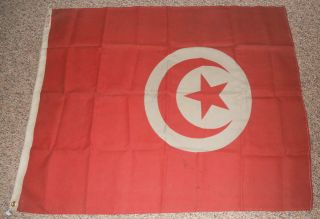 Tunisia Merchant/maritime Flag,  Guaranteed To Have Flown From A Ship photo