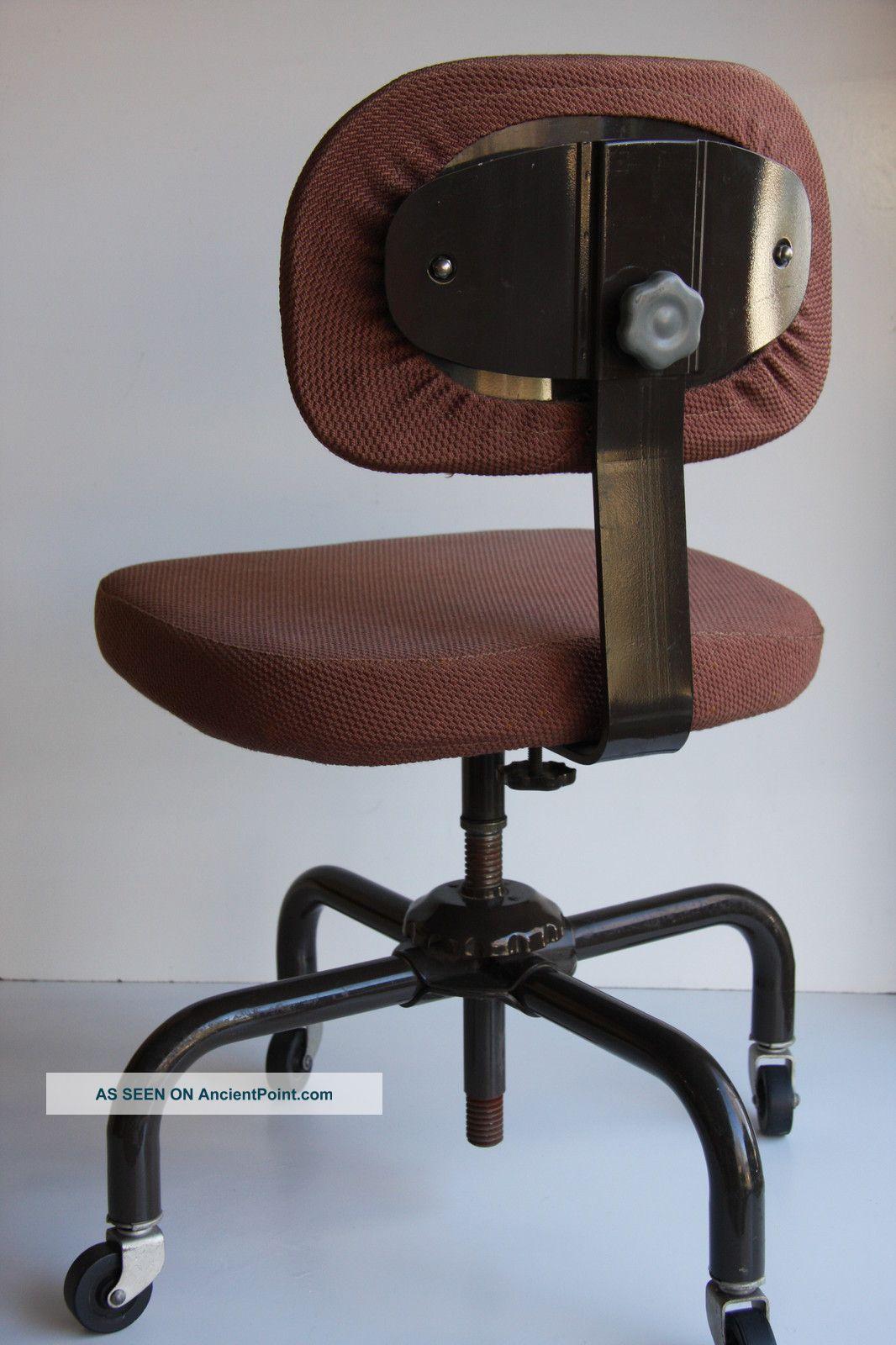 60 ' S Retro Mid Century Modern Swivel Office Chair Metal Tanker
