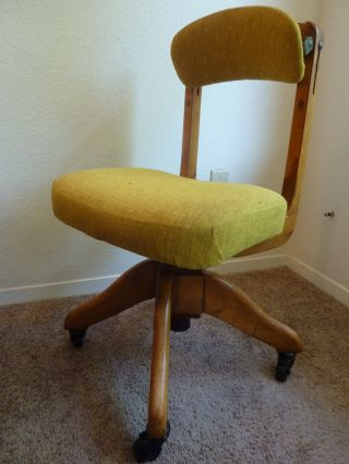 Domore Adjustable Swivel Rolling Desk Chair,  Vintage Home/business Collectible photo
