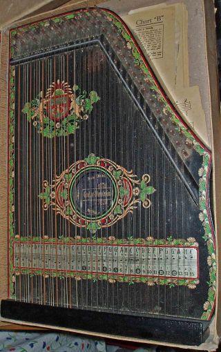 Antique C1930 German Eagle Zither Mandolin Banjo Large Musical Instrument photo