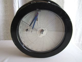 Vintage Recording Thermometer Recorder Clock Cool Industrial Decor Milwaukee Wis photo