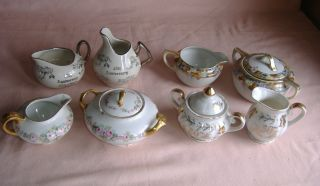 Vintage Of 4 Sugar Creamer Sets Gda France Kingwood Nippon Lefton China photo