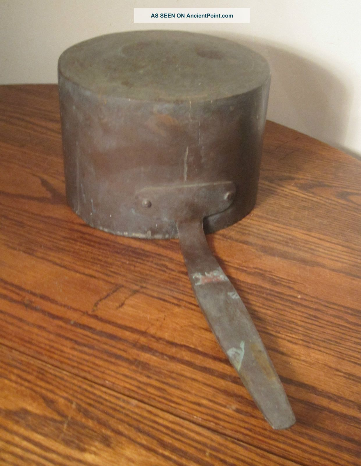 Antique Large 1800s Handmade Thick Very Heavy Copper Cooking